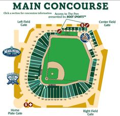 Main Concourse Map *Where to eat at Safeco Field