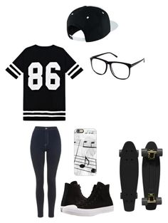 """""""Untitled #132"""" by darksoul7 ❤ liked on Polyvore featuring Topshop, NIKE, Converse, Casetify, Retrò and H&M"""
