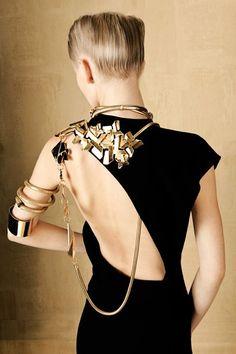 Vogue Italia GIOIELLO. 'Bold & Gold' ft. Ksenia Malanova, photography by: Oskar Cecere.