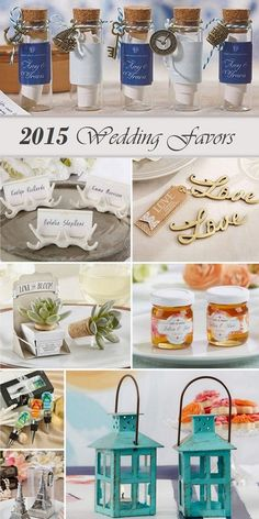 New Wedding Themed Favor Trends for 2015 from HotRef.com.  Most popular new design wedding favors for your guests.  #weddingfavors