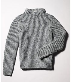 <p>A sweater with roots in our maritime past, now in a wool/cotton blend that provides a just-right weight for your fall and winter wardrobe. Knit with a slim fit in the same thick, marled ragg yarns that have been keeping L.L.Bean customers warm for generations. Soft and sturdy, with a high crewneck and allover ribbing. 52% wool/48% cotton. Imported. Handwash, dry flat.</p> <p><b>Slim Fit</b> Knit slim through the chest, sleeves and waist.</p>