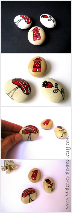 Painted Stones www.MalenaValcarcel.etsy.com