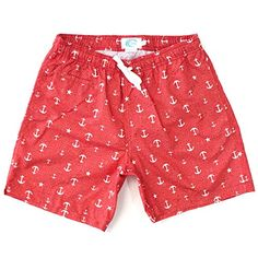 Men's High Fashion Shorter Length Swim Trunk (X-Large,Red/Anchor) -- This is an Amazon Associate's Pin. Clicking on the VISIT button will lead you to find the item on Amazon website.