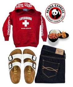 """""""comi comida china hoy !!!"""" by sofiaestrada ❤ liked on Polyvore featuring Abercrombie & Fitch, Birkenstock and Panda"""