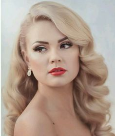 Vintage bryllup frisyrer Side Pin Up 56 trendy ideer Wedding Hair Side, Wedding Hair And Makeup, Hair Makeup, Wedding Hair Blonde, Wedding Hair Styles, Makeup Hairstyle, Wedding Hair Curls, Classic Wedding Hair, Wedding Nails