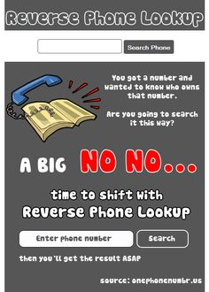 Shift phone searching from old phone book directory to one click reverse phone lookup with http://onephonenumbr.us