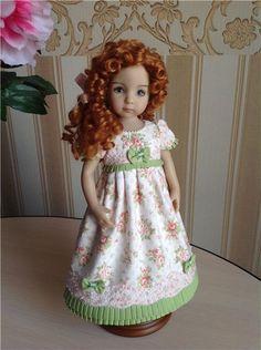 Ах, мамочка! Возьми меня на бал! Платье для куклы Эффнер. / Одежда и обувь для кукол - своими руками и не только / Бэйбики. Куклы фото. Одежда для кукол