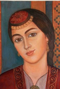 Santeos: Greek Pontian woman from Santa Black Sea Greek Paintings, Greek History, Greek Culture, 10 Picture, Greek Art, Mona Lisa, Contemporary Art, Asia, Costumes