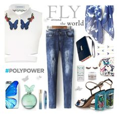 """Power to *f l y*"" by helia ❤ liked on Polyvore featuring BCBGMAXAZRIA, VIVETTA, Valentino, Klix, Annick Goutal, Accessorize, Hanae Mori, L'Oréal Paris, shu uemura and PolyPower"