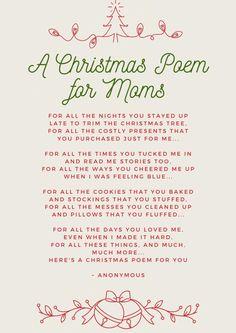 A Christmas Poem For Mom