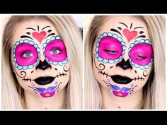 Sugar Skull Makeup (Collab with galaxyoffashion)   sophdoesnails - YouTube