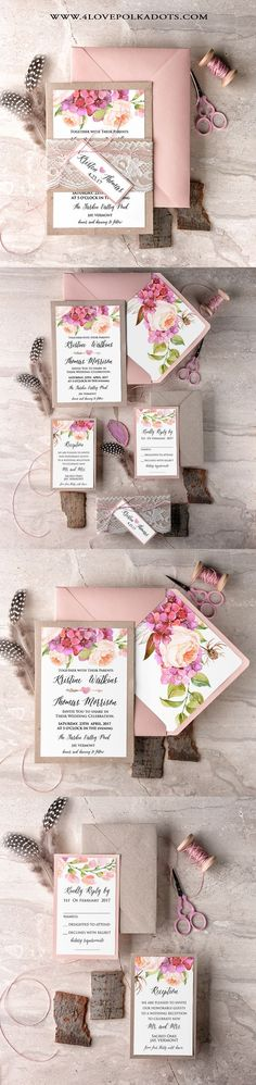 Boho Wedding Invitations Eco Papers Lace