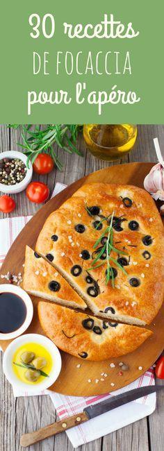 À l'ail, aux olives, au romarin, à la feta, aux tomates... 30 recettes faciles de focaccia (ou fougasses) parfaites pour l'apéro !