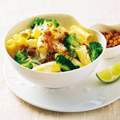 Tortiglioni mit Brokkoli und Limettensoße