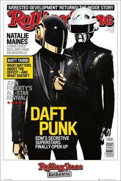 "POSTER 61 X 91.5 CM - ""ROLLING STONE - DAFT PUNK"" / http://ammazing.de/product/Poster-61-91-5-Rolling-Stone-B00DQONSGU"