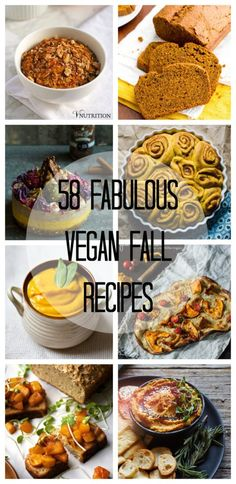 58 Fabulous Vegan Fall Recipes - Two City Vegans  Breakfast, dinner, dessert, and more included in this recipe of autumn delights!