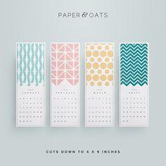 New Printable 2015 Desk or Wall Calendar PDF // by paperandoats Label Design, Box Design, Layout Design, Package Design, Design Typography, Branding Design, Design Packaging, Packaging Design Inspiration, Graphic Design Inspiration