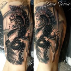 Athena tattoo done in New York by AtomiccircuS.deviantart.com on @DeviantArt