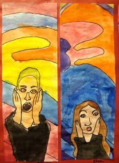 "Munch ""Scream"" self portraits... good for around Halloween?"