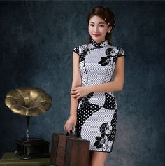 cheongsams sexy qipao dress wholesale tight summer dress short