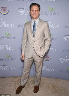 Man power: Tony Goldwyn from TV's Scandal also showed up and looked ready for brunch in a ...