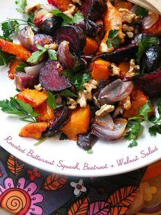 Roasted Butternut Squash, Beetroot & Walnut Salad - My Poppet Living
