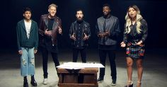 "Pentatonix has put their own spin on John Lennon's song ""Imagine"" with a powerful message! Their voices, coupled with the moving lyrics first penned by Lennon in May come together to make an absolutely beautiful rendition of the song! Pentatonix, Good Music, My Music, Scott Hoying, Mitch Grassi, Christmas Albums, Star Wars, Dog Walking, Music Is Life"