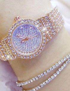 Women's Luxury Watches Diamond Watch Gold Watch Japanese Quartz Stainless Steel Silver / Gold / Rose Gold 30 m Casual Watch Analog Ladies Charm Fashion - Gold Silver Rose Gold 2019 - € Stylish Watches, Casual Watches, Luxury Watches For Men, Cheap Watches, Women's Watches, Analog Watches, Wrist Watches, Gold Watches Women, Ladies Watches
