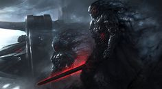 This HD wallpaper is about monster holding sword wallpaper, digital art, artwork, science fiction, Original wallpaper dimensions is file size is 1920x1200 Wallpaper, Hd Wallpaper, Black Wallpaper, Sci Fi Kunst, Dark Warrior, Fantasy Warrior, Samurai Warrior, World Of Warriors, Sci Fi Characters