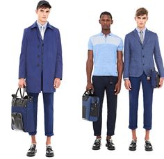 DKNY 2014 Spring Summer Mens Presentation - New York Fashion Week - White Chinos Blazers Shorts Parka Bomber Varsity Biker Jackets: Designer Denim Jeans Fashion: Season Collections, Runways, Lookbooks and Linesheets