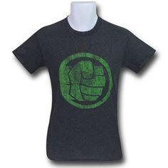 0839e3301 Hulk Fist Bump Heather Charcoal Men's T-Shirt Fist Bump, Hulk, Charcoal,