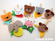 Feed The Animals Clothespin Felt Game PDF Pattern by ShillOPOP