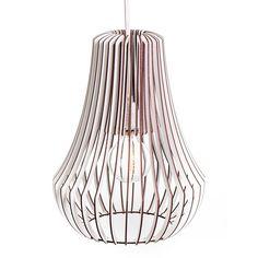 Lampenschirme - Rippenlampe Roka - ein Designerstück von westpakete bei DaWanda