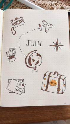 June Bullet Journal ✈️