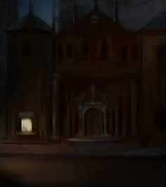 Tremere Chantry, Downtown -  concept art | Vampire the Masquerade: Bloodlines