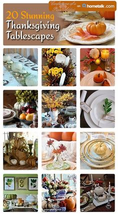 CONFESSIONS OF A PLATE ADDICT: Twenty Stunning Thanksgiving Tablescapes Curated for Hometalk