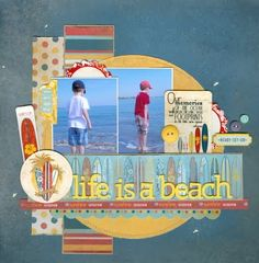 A Project by from our Scrapbooking Gallery originally submitted at AM Beach Scrapbook Layouts, Vacation Scrapbook, Scrapbook Layout Sketches, Wedding Scrapbook, Baby Scrapbook, Scrapbook Paper Crafts, Scrapbooking Layouts, Scrapbook Cards, Cute Scrapbooks