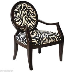 Black Zebra Armchair - I have this quality chair for sale in my EBay Store now for $295 with free delivery.