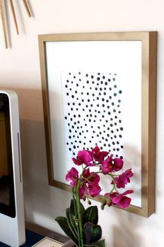 DIY Black and White Polka Dot Art tutorial