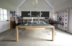duo tafel, berken multiplex / desk-top