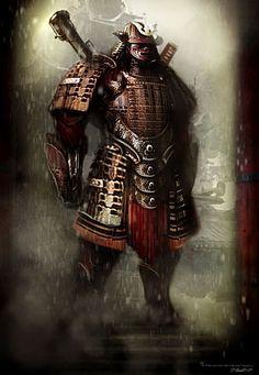 SOTE Offers Functional Japanese Samurai Armor From Today's Top Forges. Oni Samurai, Samurai Tattoo, The Last Samurai, Ninja Art, Black Parade, Funky Art, Robot Design, Victorian Steampunk, Cg Art
