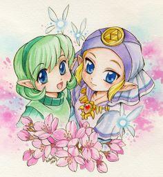 Saria and Zelda