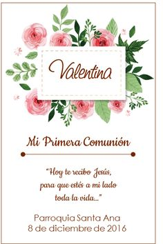 me encanta Clock Printable, First Communion Cards, Sacramento, Birthday Parties, Place Card Holders, Invitations, Floral, Party, First Holy Communion