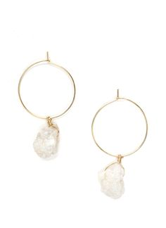 Rock With You Geode Earrings MULTI GOLD IVORY - GoJane.com
