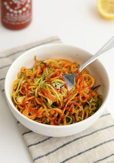 Roasted Spiralized Herb Vegetables #veggies #recipe #vegetarian