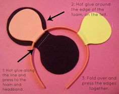 Instructions for foam mouse ears, need this for Angelina Ballerina costume!