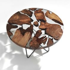 Family-run Italian furniture design firm Riva 1920 has designed a stunning new resin table with wood inlay. And with a base designed by renowned architect Renzo Piano, the result is… Wood Resin Table, Epoxy Resin Wood, Resin Art, Wood Table, Walnut Table, Renzo Piano, Resin Furniture, Furniture Design, Diy Coffee Table