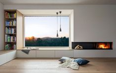 Sitzfenster innen by Buchner Holzbaumeister Source by The post Sitzfenster innen by Buchner Holzbaum Home Interior Design, Interior Architecture, Interior And Exterior, Windows And Doors, Home And Living, Living Room Designs, New Homes, House Design, Modern Window Seat