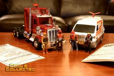 M.A.S.K. 80's toys - Rhino and Slingshot.  OMG, I remember my brother having these toys!