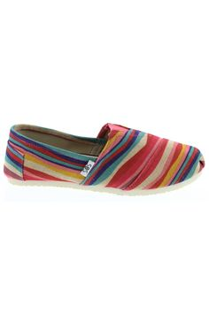 Shoes of Soul - Hanna Canvas Flats in Red Stripe